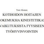 Toni Ahosen opinnäytetyön otsikko